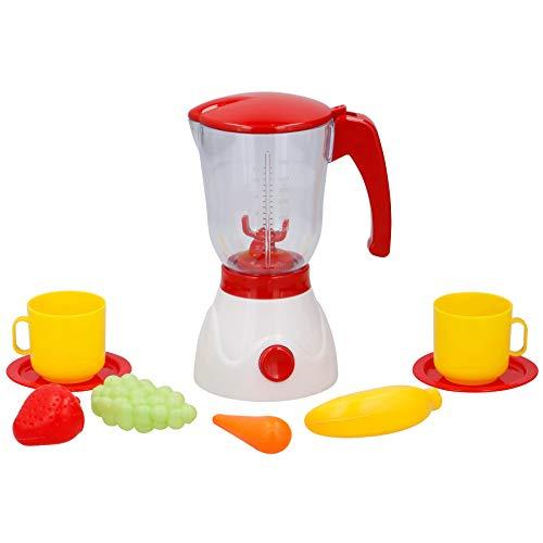 Warenhandel König Kinder Spielzeug für Kinderküche Spielküche Küche Mixer Standmixer Smoothie-Maker mit Zubehör