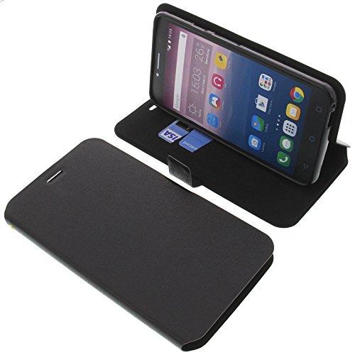 foto-kontor Tasche für Alcatel Pixi 4 6.0 4G Book Style schwarz Schutz Hülle Buch