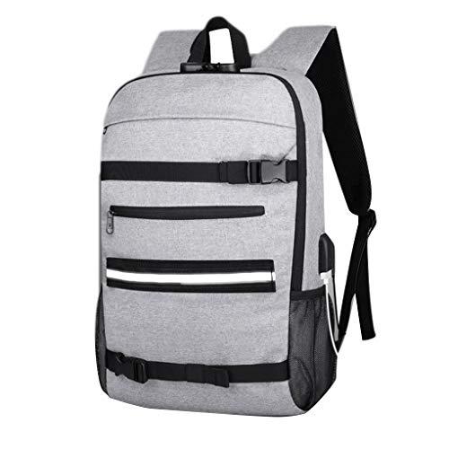 Floridivy Outdoor Anti-Theft Skateboard Backpack waterdichte laptop tas grote tas, Anti-diefstal waterdichte tas, capaciteit reistas met USB-poort opladen