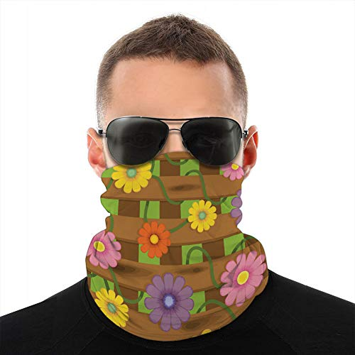 vbndfghjd 184 Cubierta del Cuello Cubierta del Escudo Cuello Bufanda Valla con Flores Cubierta a Prueba de Sol