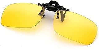 Clip On Sunglasses, Womdee Polarized Lenses Classic Clip-On Sunglasses for Prescription Glasses Unisex Flip Up Sunglasses for Myopia Glasses Outdoor Driving Fishing