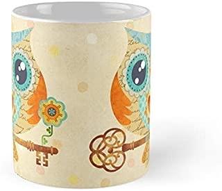 Owl's Summer Love Letters Mug - 11Oz Mug - Made From Ceramic