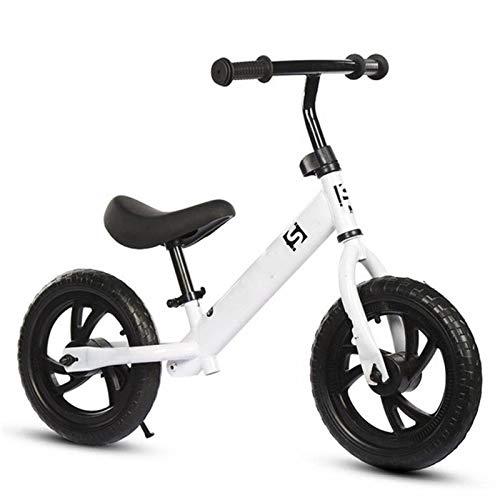 XIAOLULU BicicletaBicicletas De Monta?a para Ni?os Sin Pedal Bicicletas BMX De 12 Pulgadas para Entrenamiento De Ciclistas Principiantes De 2/3/4/5/6 A?os (Size:One Size; Color:White)