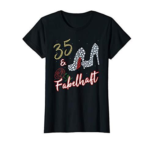 Damen 35. Geburtstag Frau 35 Jahre Und Fabelhaft Frauen Geschenk T-Shirt