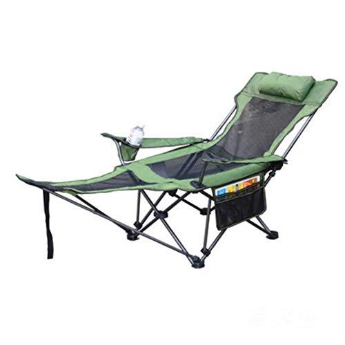 BSDBDF Silla de Camping Plegable y reclinable para Exteriores, con Soporte para Taza y reposapiés, para jardín, Playa, Senderismo, picnics