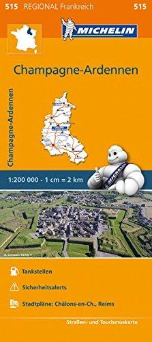 Michelin Champagne Ardennen: Straßen- und Tourismuskarte 1:200.000