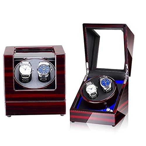 ZCXBHD Caja Giratoria para Relojes, Watch Winder Cajas Giratorias para Relojes Automático Rotador de Reloj Automático de Fibra de Carbono de PU con Motor Silencioso (Color : M)