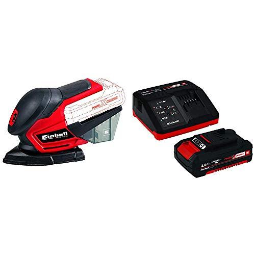 Einhell 4460713 Lijadora Multi TE-OS 18 li, 0 W, 18 V, Rojo + 4512040 Kit con...