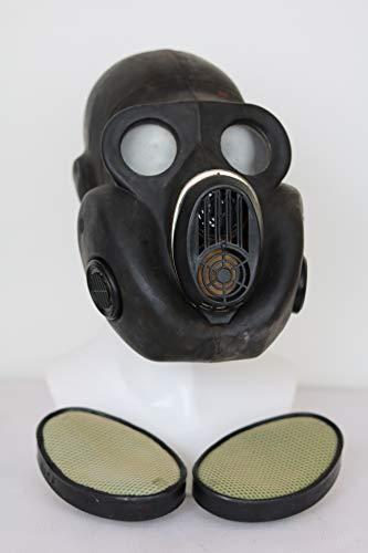 OldShop Gas Masker Pbf (eo-19) Set - Sovjet Russische militaire Gasmasker REPLICA Verzamelbare Item Set W/Masker, Tas & Filter - Authentieke Look Meerdere (Zwart - S), S, Zwart