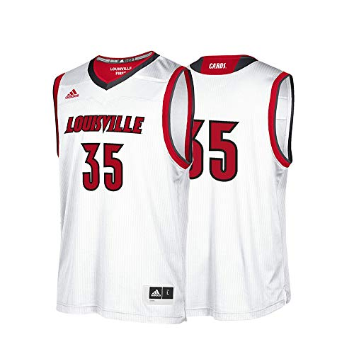 adidas Men's NCAA Louisville Replica Basketball Jersey, White,XL - US