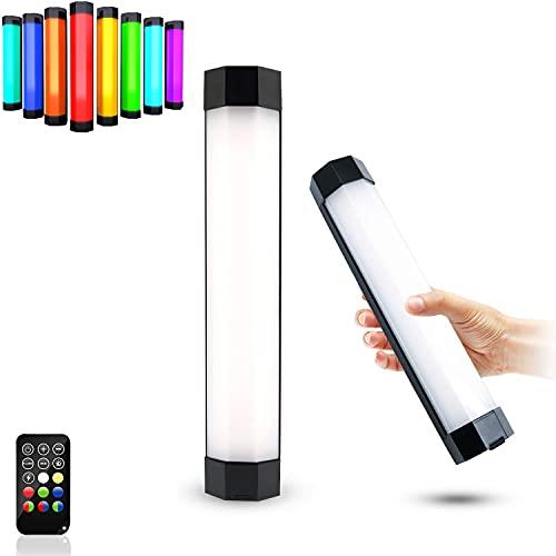 HAOXUAN Barra de luz de Video RGB, luz de fotografía LED a Prueba de Agua IP67, Tubo RGB Colorido de atenuación Continua de 3000K-6000K CRI95 + imán Fuerte Incorporado, batería de 4000mAh