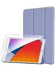 SmartDevil Funda para iPad 8 Generación 2020 / Funda iPad 7 Generación 2019 + HD Protector Pantalla, Funda para iPad 10.2 con Auto-Sueño/Estela y Soporte, Delgada Carcasa para iPad 7/8, Morado