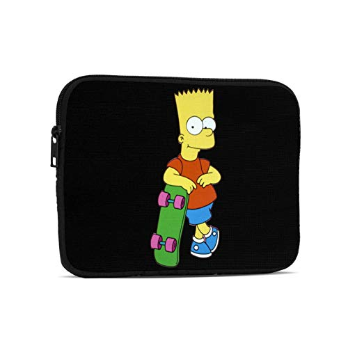 Oxmall The-Simpsons-Bart Simpson Waterproof Laptop Sleeve with Handle Handbag Clutch Bag Tablet Protective Pouch for Ipad 7.9 Inch