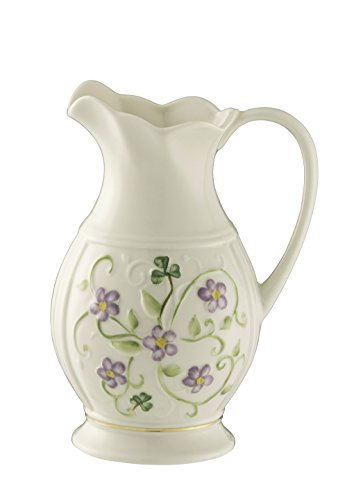 Belleek Pottery Floral Irish Flax Pitcher