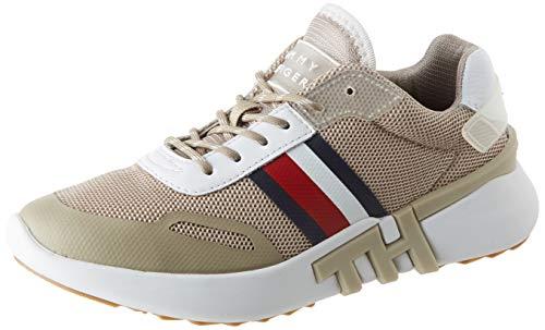 Tommy Hilfiger Damen Tommy Sporty Branded Runner Sneaker, Beige (Stone Aep), 38 EU
