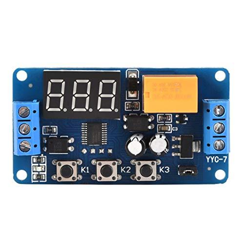 QITERSTAR Interruptor Temporizador, Ciclo Ajustable Temporizador de Control Módulo de Interruptor de retardo de Tiempo de relé 3V 3.7V 4.5v 5v 6v 7.4V