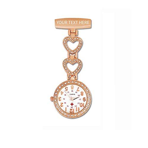 Krankenschwester Uhren mit Gravur Personalisierte Namensschild Abzeichen Krankenschwester Uhr Medizinische Anstecknadel Clip-on Brosche Hängende Tasche Fob Uhren