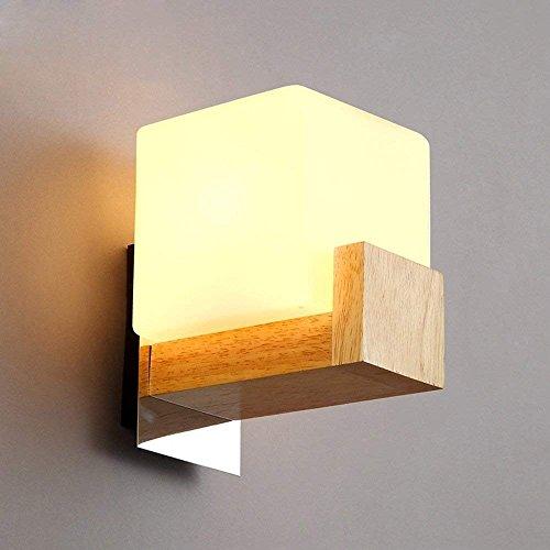 DSJ eenvoudige, creatieve houten balkon-woonkamer, slaapkamer, nachtkastje, trappenhuis, wand-ganglamp