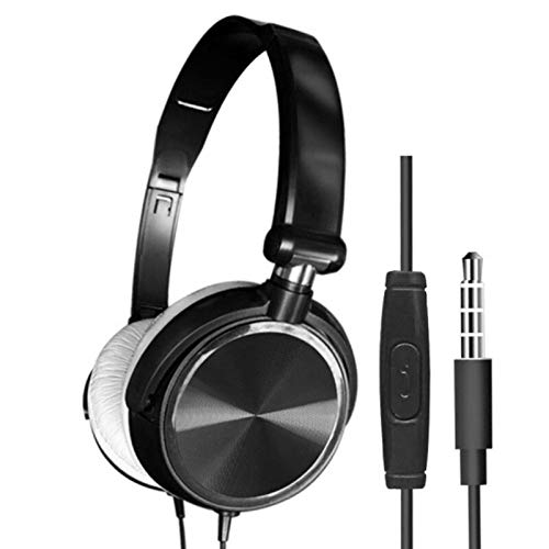 Wired Headset Over Ear HiFi Bass Sound Music Stereo Earphone With...