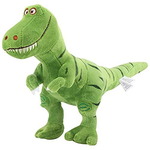 Creacom Peluche T-Rex Tyrannosaurus Dinosaurio Figur, 28 cm, juguete de peluche dulce suave T-Rex Tyrannosaurus Dinosaurio figura verde