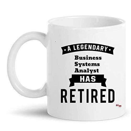 Pensionerade affärssystem analytiker presentkopp 325 ml mugg – pensionering presenter koppar muggar pensionering gåva för mormor farfar