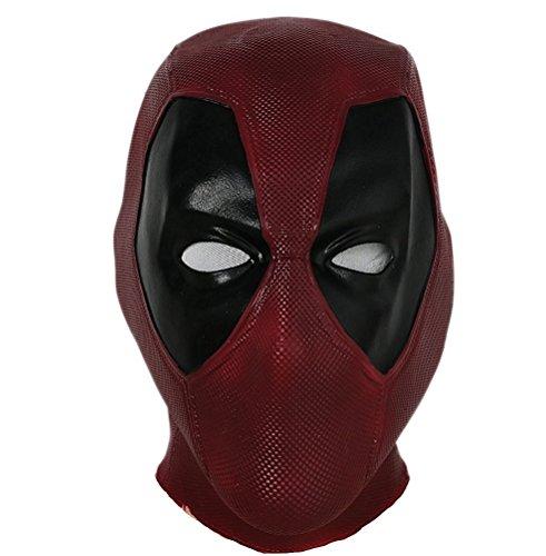 DP Maske Deluxe Rot Full Head Latex Film Helm Halloween Cosplay Superheld Kostüm Zubehör Typ A
