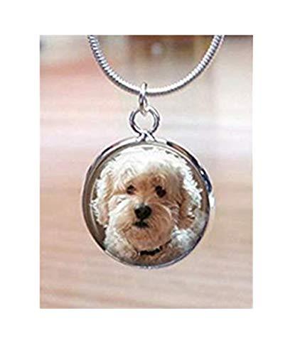 heng yuan tian cheng Hond Charm Ketting, Aangepaste hond foto Charm, Aangepast geschenk, voor Moeder, Grootmoeder, Dochter