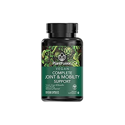 Vegan Joint & Mobility Support Capsules – Gluten Free Vegan Pills – Kosher Certified - Healthy Inflammatory Response - Plant Based Supplement with Turmeric, Ginger, Boswellia – 90 Vitamins