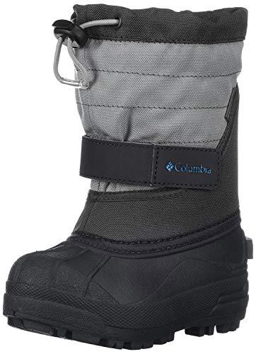 Columbia Childrens Powderbug Plus Winter Boot (Toddler/Little Kid), Black/Hyper Blue, 13 M US Little Kid