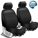 Magiona Waterproof Neoprene Car Seat Covers for Front Seats 3 Layer Front Seat Covers for Car Truck Van SUV Universal Fit Black 1 Pair