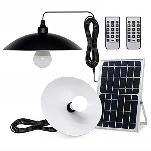 ソーラー ガーデンライト ペンダントライト 2灯 分離型 2色切替 電球色 昼白色 ソーラーライト アンティーク 北欧 屋外用 防水 吊り下げ リモコン シェード ランプ 充電式 ランタン