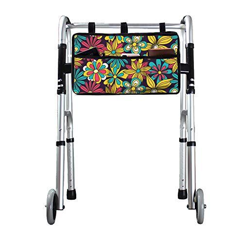 QEES GJB705 Rollator-Tasche, Universal-Tasche, strapazierfähiges Oxford-Rollator-Aufbewahrungstasche, Rollstuhl-Tasche