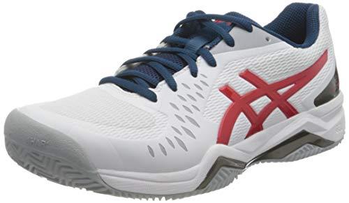 ASICS Herren Gel-Challenger 12 Clay Tennis Shoe, White/Classic Red, 43.5 EU