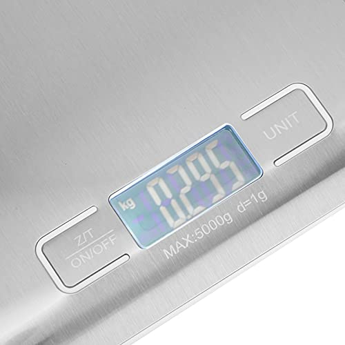 Demeras acero inoxidable plano de la alta exactitud de la escala electrónica 5000g para el hogar diario