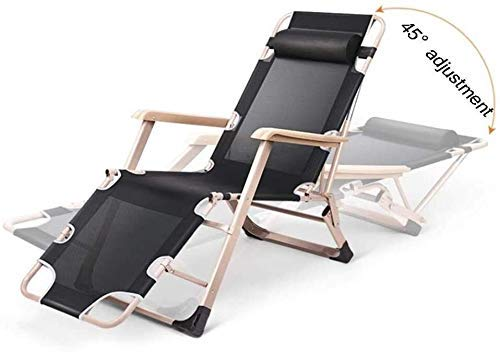 XYSQWZ Garden Chairs recliners Folding Recliner Deck Chair, Zero Gravity Armchair Indoor Dining Home Office Chair for Outdoor Dining Camping Inclined Camping Chair On The Lawn, 178x52x25cm