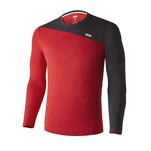 42K Running - Camiseta técnica Manga Larga Atria Winter Aurora Red M