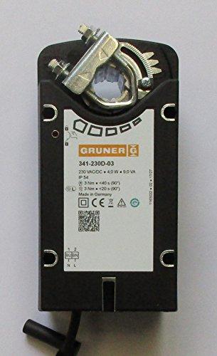 GRUNER 341-230D-03 230 V 2 punti di trazione a patta 3 Nm con ritiro a molla