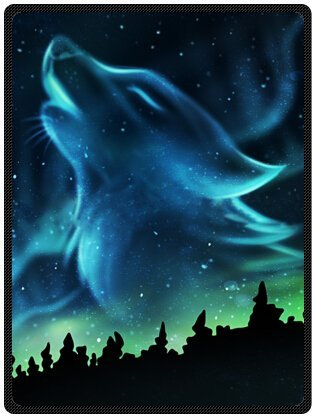Hot Sell Super Soft wolf Northern Lights Blanket 58' x 80' Fleece Blanket (Large)