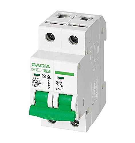 Interruptor Automático Magnetotérmico 2P Curva C 10A 6KA - GACIA