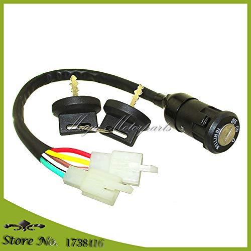 Encendido interruptor de llave de luz 5 cables en 2 enchufes para Zongshen 190cc Pit Dirt Bike
