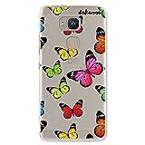 dakanna Coque pour [ Bq Aquaris V - VS ] en Silicone Souple, Design [ Imprimé Papillon Multicolore...