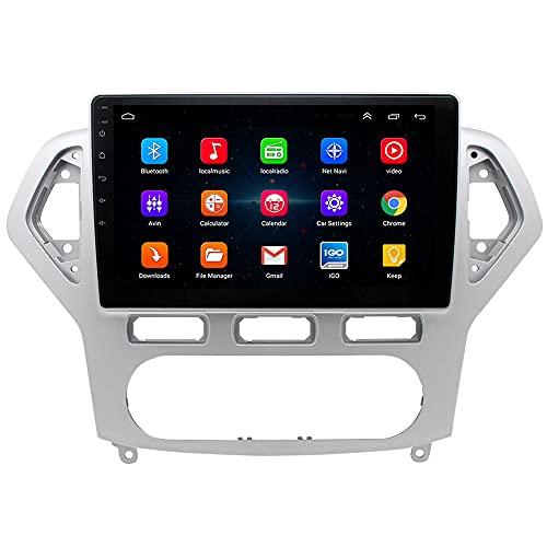 Android 10 Radio Navegación GPS para Ford Mondeo, 10.1 pulgadas Pantalla táctil Satnav Reproductor multimedia Car Audio Estéreo con cámara de visión trasera/dashcam/DAB/Carplay/RDS [1G+16G] [2G+32G]