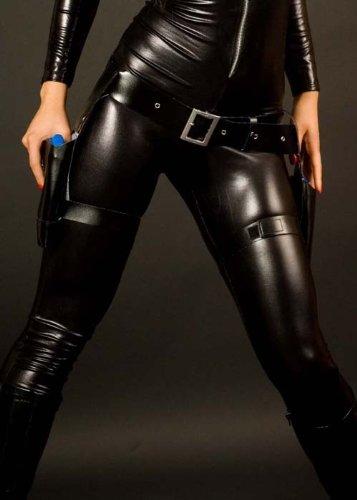 Lara Croft Style Schwarzer Oberschenkel Beinholster Set