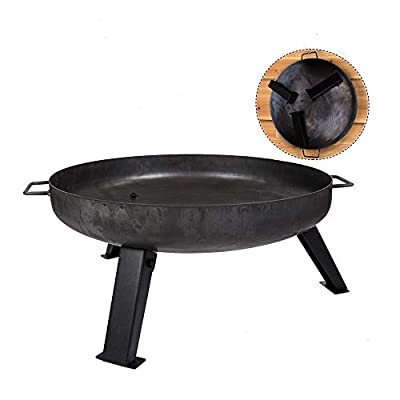 Köhko Fire bowl Ø 55 cm - anti rust legs - foldable and removable legs 41003-55 from Könige Hausdeko GmbH