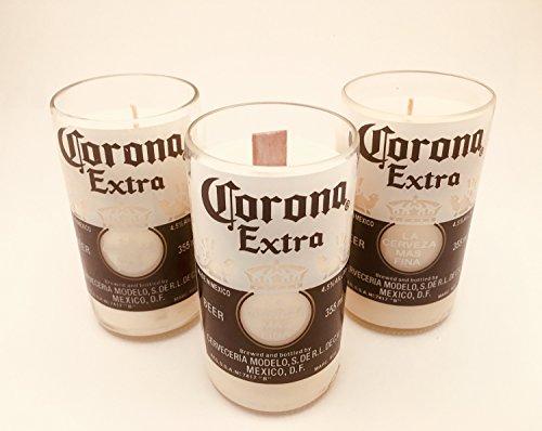 ECO en Cire de soja Bougie dans Une Bouteille de Corona recyclée Restauré en Verre – Parfum de Lavande Ambre Bouteille de bière