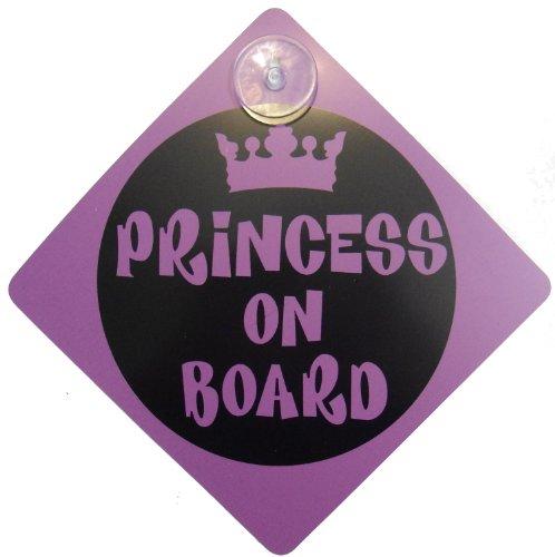 Princesse sur planche de sécurité enfant Comprend 1 ventouse pour votre voiture vechicle Signes