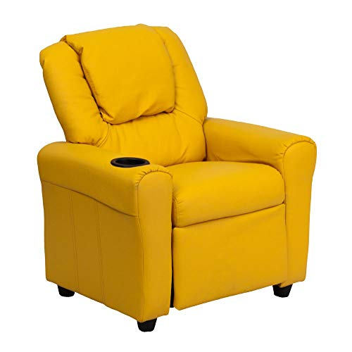 Flash Furniture Furniture>Seating>Chairs>Recliners, Yellow Vinyl