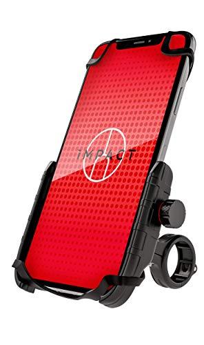 Impact Fixy 360° Handyhalterung Fahrrad - Extrem stabile Fahrrad & Motorrad Handyhalterung - mit 360° Kugelgelenk & Sicherheitsgummi - Die Smartphone Halterung für Dein Fahrrad - Handyhalter Fahrrad