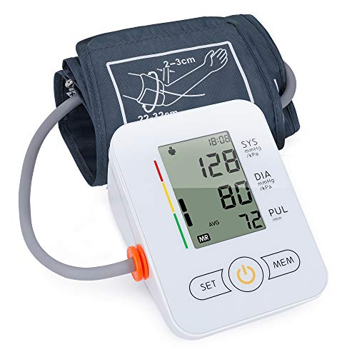 Automatic Arm Blood Pressure Monitors-maguja Automatic Digital Upper Arm Blood Pressure Monitor Arm Machine, Wide Range of Bandwidth, Large Cuff, Large LCD Display BP Monitor, Suitable for Home Use