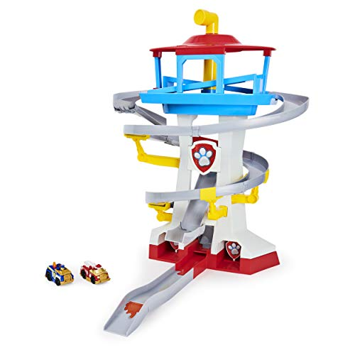 Paw Patrol, True Metal Adventure Bay Rescue Way Playset with 2 Exclusive Vehicles, 1:55 Scale